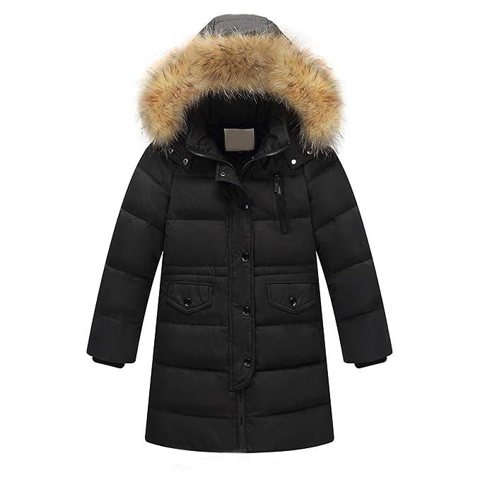 e365fa3dcf21 Amazon.com  Tronet Kids Girls Winter Faux Fur Hooded Parka Down Coat ...