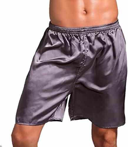 GRMO-Men Cotton Casual Fit Soft Elastic Waist Comfy Sleep Lounge Shorts