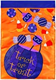 Carson Home Accents Halloween Candy Trends Double Applique Large Flag