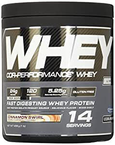 Cellucor COR-Performance Whey Isolate Protein Powder, Post Workout Recovery Drink, Gluten Free Low Carb Low Fat, BCAA, Cinnamon Swirl, 14 Servings