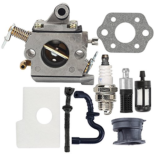 Butom MS170 Carburetor with Air Filter Tune Up Kit for Stihl 017 018 MS180 MS180C MS170C Chainsaw C1Q-S57A 1130 120 0603