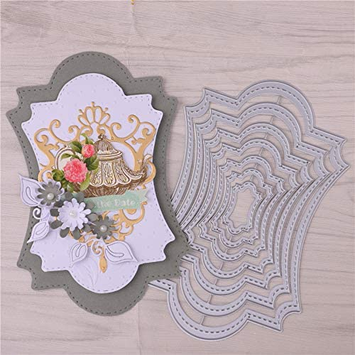 Frame Metal Cutting Die Cuts DIY Crafts Template Frame Paper Cards Cutting Dies Cut Stencils for DIY Embossing Card Making Book Tags Decorative Paper Dies Scrapbooking