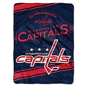 "NHL Stamp Plush Raschel Throw, 60"" x 80"""