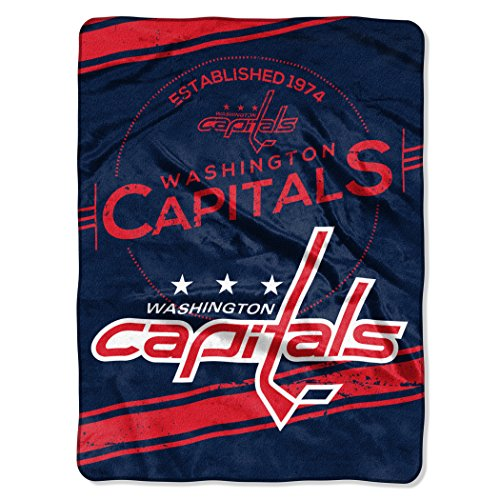 Officially Licensed NHL Washington Capitals Stamp Plush Raschel Throw Blanket, 60