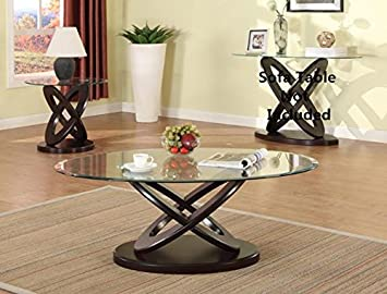 Brand New 3 Pack Cyclone Oval Coffee Table (1)and End Table (
