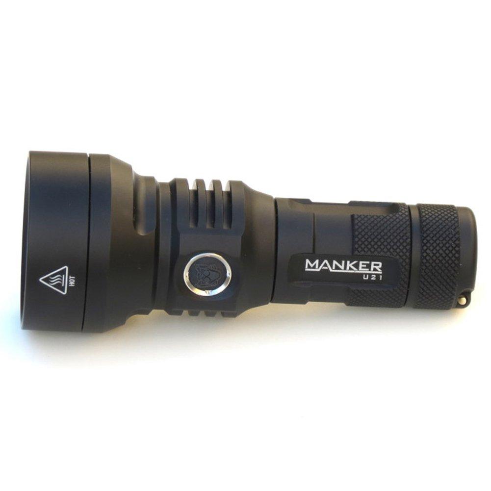 Manker Manker Manker U21 CREE xhp35 Hi tendido de emisor de 1  18650 1  26650 recargable Max distancia de haz 700 metros pequeño lanzador USB LED linterna de carga, Cool Blanco 34a40b