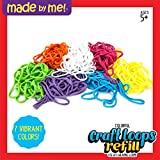 Made By Me Craft Loops Refill By Horizon Group Usa, Includes 3.5 Oz Of Weaving Loom Loops In 7 Vibrant Colors, Multicolored