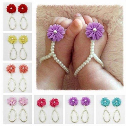 MagiDeal Blumen Baby Mädchen Kids Haarband /Stirnband + Newborn Haarband Fotografie Haarband - Farbe1, one size Farbe1