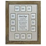 All Things For Mom School Days Years Photo Picture Mat and Frame 11x14 Taupe -Classic Mat, Rustic Barnwood Frame