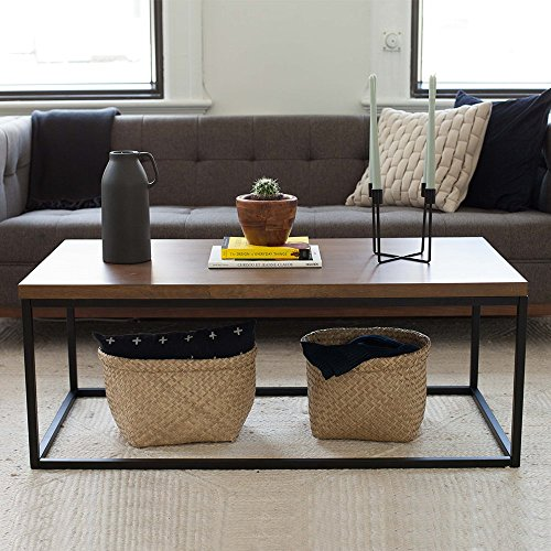 Coffee Table Legs Brown: Nathan James 31101 Doxa Modern Industrial Coffee Table