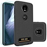 Moto Z4 Play Case,Moto Z4 Case with HD Screen Protector [2 Pack] Huness Durable Armor and Resilient Shock Absorption…