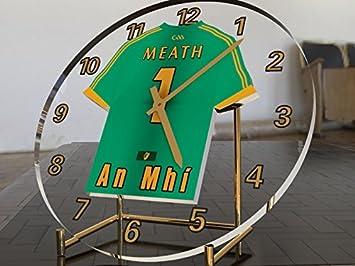 Reloj de escritorio con diseño de camiseta del GAA Gaelic y Hurling, personalizable, hombre, County Meath GAA: Amazon.es: Deportes y aire libre