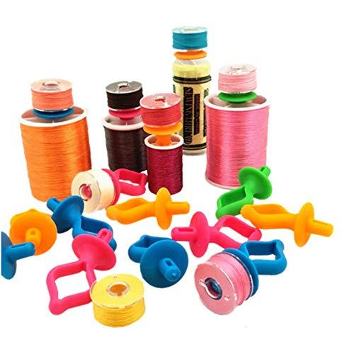 YEQIN Bobbin Holder. Storage Your Bobbins on Top of Thread Spools (48 Pieces)