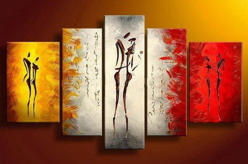 Santin Art-Dance With Me Hand Made Oil Painting Modern Canvas Art Wall Decor Abstract Oil Painting Wall Art Decorations on Canvas Home Decor