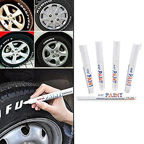 5 Pcs Car Moto Auto Permanent Tyre Tread Rubber Marker Paint Pen Waterproof New