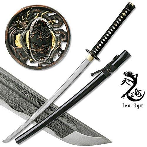 (Masahiro Damascus Sword of The Serpent Hunting Knife)