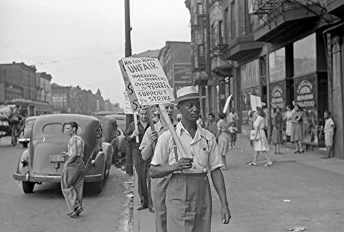 Chicago: Picket Line, 1941. /Npicketers Outside Of The Mid-City Realty Company On The South Side Of Chicago, Illinois. Photograph By John Vachon, 1941. Poster Print by (24 x 36)
