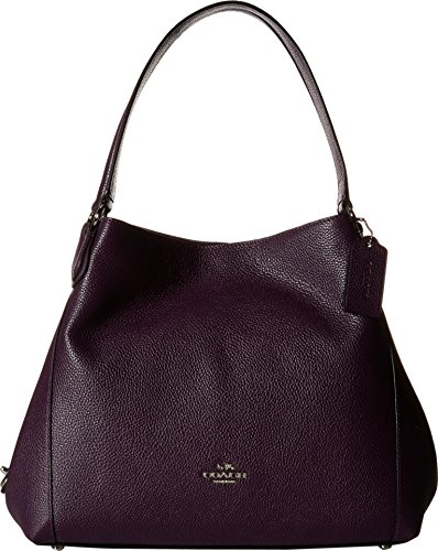 Womens Refined Pebble Leather Shoulder