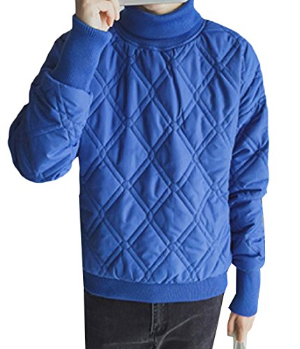 Degli Dolcevita Calda Addensato Pullover Xinheo Solido Blu Colore Di Capospalla Uomini W60P8Pqdwp