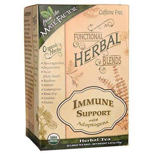 Functional Herbal Blends Tea - Immune Support with Adaptogens 20/2.47 Ounce (70 g) Bag(S)