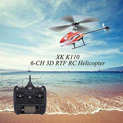 millet16zjh XK K110 6CH 3D 6G System Brushless Motor RTF Remote Controlled RC Helicopter