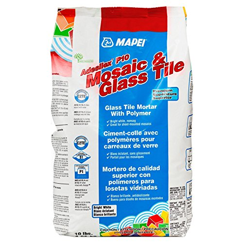 Mapei Adesilex-P10 Premium Mosaic & Glass Tile Mortar (Best Thinset For Glass Tile)