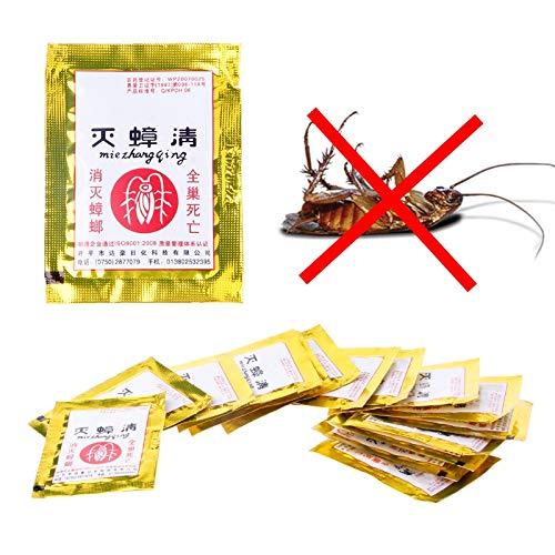 Shoppy Star 15 Piezas de cucarachas Trampa Repelente Veneno Plagas Cartera Familia Interior Control de Insectos