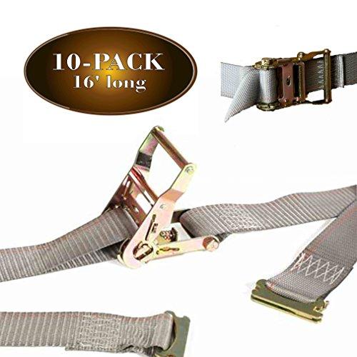 10 E Track Ratchet Tie-Down Cargo Straps, 2