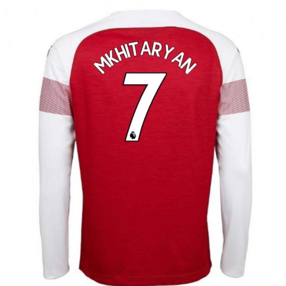 2018-2019 Arsenal Puma Home Long Sleeve Football Soccer T-Shirt Trikot (Henrikh Mkhitaryan 7)