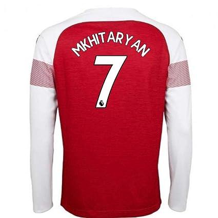 3a2fc5dde4b Amazon.com   2018-2019 Arsenal Puma Home Long Sleeve Football Soccer ...