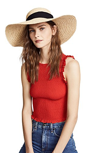 (Hat Attack Women's Braided Sunhat, Natural/Black, One Size)