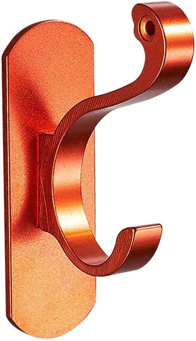 TOPBATHY Gancio Autoadesivo Ganci a Parete in Metallo Gancio Resistente Senza Gancio Porta soffitto Appendiabiti per Cucina Asciugamano da Bagno Cappotto Arancione