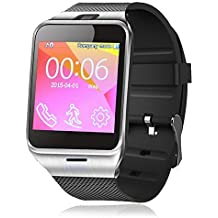 Padgene Bluetooth V3.0 NFC SmartWatch for Samsung S3 / S4 / S5 / S6 / S6 Edge / Note 2 / Note 3 / Note 4, HTC one M8 / M9, Sony and other Android Smartphones, Black