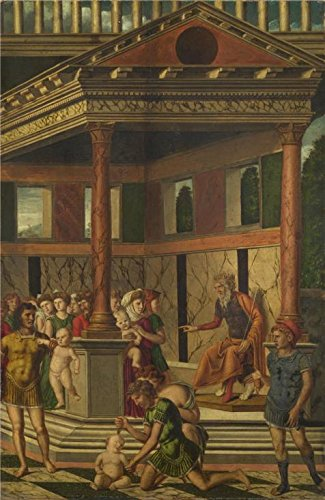 Perfect Effect Canvas ,the Replica Art DecorativeCanvas Prints Of Oil Painting 'Gerolamo Mocetto - The Massacre Of The Innocents With Herod,about 1500-25', 12x18 Inch / 30x47 Cm Is Best For Study Artwork And Home Decoration And Gifts -