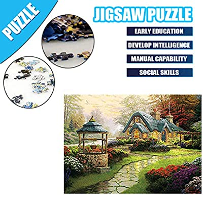 Puzzles for Adults 500 Piece Puzzle Garden Landscape Jigsaw Puzzle Assembling Game Toys Children's Educational: Toys & Games