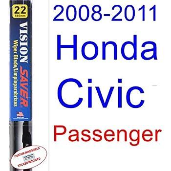 2008-2011 Honda Civic Coupe Wiper Blade (Passenger) (Saver Automotive Products-Vision Saver) (2009,2010)