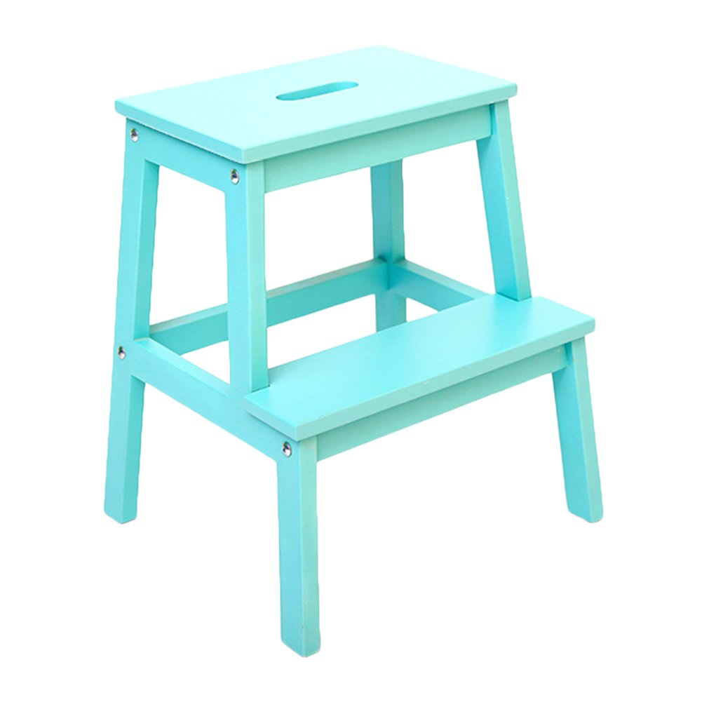 Amazon.com: Ladder stool Children\'s climbing chair of Solid Wood 2 ...