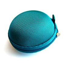 Teal (Green/Blue) Case for Plantronics Backbeat Go , Marque 2 M165 , Marque M155 , M55 M50 M28 M25 M24 M20 , Savor M1100 , M100 MX100 , Discovery 975 925 Wireless Bluetooth Headset M-165 M-155 M-55 M-50 M-28 M-25 M-24 M-20 M-1100 M-100 MX-100 Bag Holder Pouch Hold Box Pocket Size Hard Hold Protection - Protect Save Earhooks Ear Hook Ear Loop Ear Bud Ear Gel Eargel