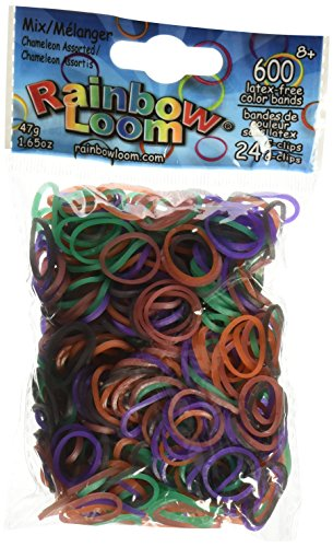 Rainbow Loom Chameleon Mood Change Rubber Bands with 24 C-Clips (600 Count) ()