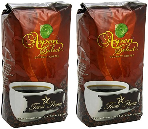 2.5 Lb Whole Beans (Aspen Select Gourmet Coffee Texas Pecan, Whole Bean, 2.5 Lb ( Pack of 2))