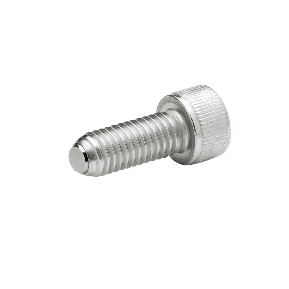J.W. Winco 6N40P48/VN GN606-NI Socket Head Cap Screw with Flat Ball, Safety Twist Feature, M6 x 40 mm Thread Length, Stainless Steel