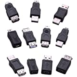 RIJER 5 Pin OTG Adapter Converter USB Male to Female for Computer Tablet Pc Mobile Phone 11 Pack