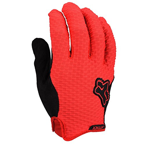 Fox Men's Attack Gloves, Red, Small