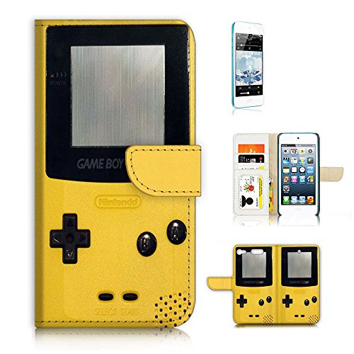 ( For iPod Touch 6 / iTouch 6 ) Flip Wallet Case Cover and Screen Protector Bundle A20276 Video Game