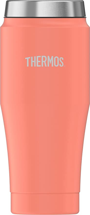 Thermos 16 Ounce Stainless Steel Tumbler Peach Kitchen Dining