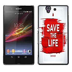 Dragon Case - FOR Sony Xperia Z L36H - save the life - Caja protectora de pl??stico duro de la cubierta Dise?¡Ào Slim Fit
