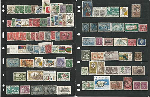 Canada Stamp Collection on 38 Stock Pages, Used Sock on Nose Cancels, DKZ