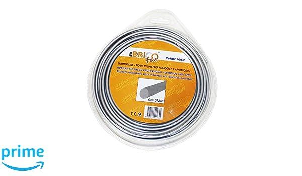 Bricoferr BF100-2 Hilo desbrozadora nylon con aluminio perfil ...