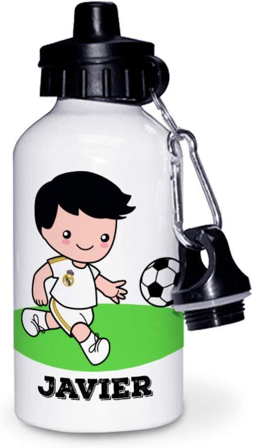 Kadoo Regalos Botella de Aluminio Personalizada Infantil Fútbol