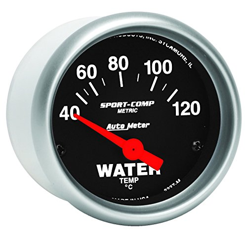 Auto Meter 3337-M SPORT-COMP Metric Water Temperature Gauge